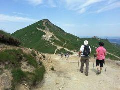 Le col de la Cabane et le Puy de Sancy en face